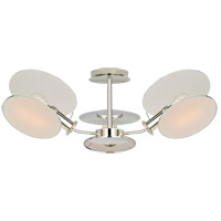 Thomas OBrien Osiris 3 Light 25 inch Polished Nickel Semi-Flush Mount Ceiling Light, Medium Reflector