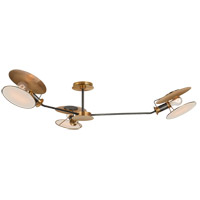 Visual Comfort TOB4291BZ/HAB-L Thomas Obrien Osiris 3 Light 47 inch Bronze and Hand-Rubbed Antique Brass Semi-Flush Mount Ceiling Light, Large Asymmetric