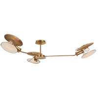 Thomas OBrien Osiris 3 Light 47 inch Hand-Rubbed Antique Brass Semi-Flush Mount Ceiling Light, Large Asymmetric