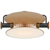 Thomas OBrien Osiris 2 Light 15 inch Bronze and Hand-Rubbed Antique Brass Flush Mount Ceiling Light, Medium