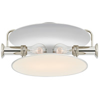Visual Comfort TOB4294PN-L Thomas OBrien Osiris 2 Light 15 inch Polished Nickel Flush Mount Ceiling Light Medium