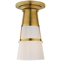 Visual Comfort TOB4752HAB-WG Thomas OBrien Robinson LED 8 inch Hand-Rubbed Antique Brass Flush Mount Ceiling Light Medium
