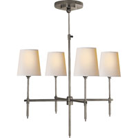 Visual Comfort Thomas OBrien Bryant 4 Light Chandelier in Antique Nickel TOB5002AN-NP
