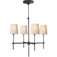 Visual Comfort Thomas OBrien Bryant 4 Light Chandelier in Bronze with Wax TOB5002BZ-NP