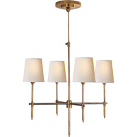 Visual Comfort Thomas OBrien Bryant 4 Light Chandelier in Hand-Rubbed Antique Brass TOB5002HAB-NP