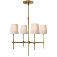 Visual Comfort TOB5002HAB-NP Thomas O'Brien Bryant 4 Light 26 inch Hand-Rubbed Antique Brass Chandelier Ceiling Light