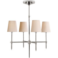 Visual Comfort Thomas OBrien Bryant 4 Light Chandelier in Polished Nickel TOB5002PN-NP