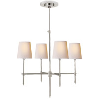 Visual Comfort TOB5002PN-NP Thomas O'Brien Bryant 4 Light 26 inch Polished Nickel Chandelier Ceiling Light