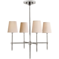Thomas OBrien Bryant 4 Light 26 inch Polished Nickel Chandelier Ceiling Light