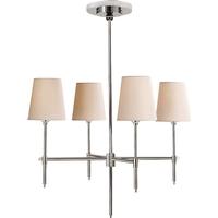 Visual Comfort TOB5002PN-NP Thomas OBrien Bryant 4 Light 26 inch Polished Nickel Chandelier Ceiling Light