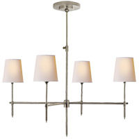 Thomas Obrien Bryant 4 Light 36 inch Antique Nickel Chandelier Ceiling Light