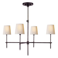 Visual Comfort Thomas OBrien Bryant 4 Light Chandelier in Bronze with Wax TOB5003BZ-NP