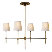 Visual Comfort Thomas OBrien Bryant 4 Light Chandelier in Hand-Rubbed Antique Brass TOB5003HAB-NP