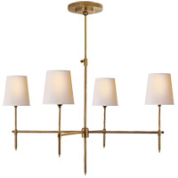 Visual Comfort TOB5003HAB-NP Thomas O'Brien Bryant 4 Light 36 inch Hand-Rubbed Antique Brass Chandelier Ceiling Light