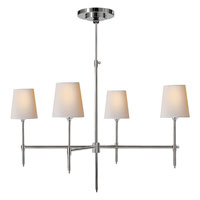 Visual Comfort Thomas OBrien Bryant 4 Light Chandelier in Polished Silver TOB5003PS-NP