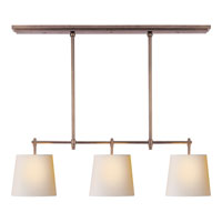 Visual Comfort Thomas OBrien Bryant 3 Light Linear Pendant in Antique Nickel TOB5004AN-NP