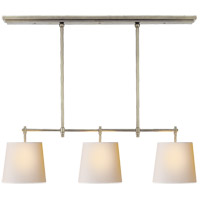 Thomas O'Brien Bryant 3 Light 36 inch Antique Nickel Linear Pendant Ceiling Light