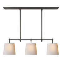 Visual Comfort Thomas OBrien Bryant 3 Light Linear Pendant in Bronze with Wax TOB5004BZ-NP