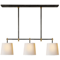 Visual Comfort TOB5004BZ/HAB-NP Thomas OBrien Bryant 3 Light 20 inch Bronze and Hand-Rubbed Antique Brass Billiard Pendant Ceiling Light Small