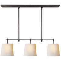 Visual Comfort TOB5004BZ-NP Thomas OBrien Bryant 3 Light 36 inch Bronze Linear Pendant Ceiling Light