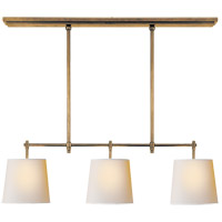 Visual Comfort TOB5004HAB-NP Thomas OBrien Bryant 3 Light 36 inch Hand-Rubbed Antique Brass Linear Pendant Ceiling Light