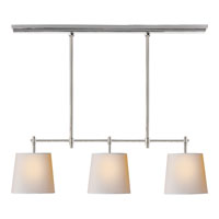 Visual Comfort Thomas OBrien Bryant 3 Light Linear Pendant in Polished Nickel TOB5004PN-NP