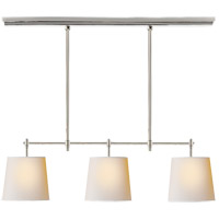 Thomas Obrien Bryant 3 Light 36 inch Polished Nickel Linear Pendant Ceiling Light