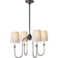 Visual Comfort TOB5007BZ-NP Thomas OBrien Vendome 4 Light 26 inch Bronze Chandelier Ceiling Light in Natural Paper