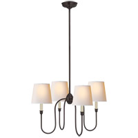 Visual Comfort TOB5007BZ-NP Thomas O'Brien Vendome 4 Light 26 inch Bronze Chandelier Ceiling Light in Natural Paper