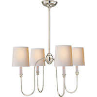 Visual Comfort TOB5007PN-NP Thomas OBrien Vendome 4 Light 26 inch Polished Nickel Chandelier Ceiling Light in Natural Paper