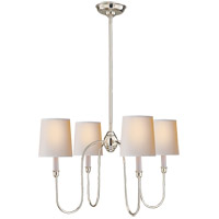 Visual Comfort TOB5007PN-NP Thomas O'Brien Vendome 4 Light 26 inch Polished Nickel Chandelier Ceiling Light in Natural Paper
