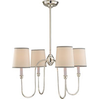 Visual Comfort Thomas OBrien Vendome 4 Light Chandelier in Polished Silver TOB5007PS-NP/ST