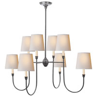 Visual Comfort Thomas OBrien Vendome 8 Light Chandelier in Antique Silver TOB5008AS-NP