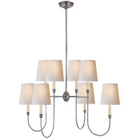 Visual Comfort TOB5008AS-NP Thomas O'Brien Vendome 8 Light 36 inch Antique Silver Chandelier Ceiling Light