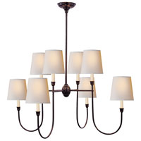 Visual Comfort Thomas OBrien Vendome 8 Light Chandelier in Bronze with Wax TOB5008BZ-NP