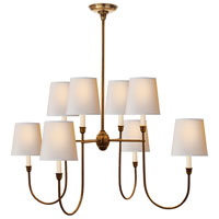 Visual Comfort Thomas OBrien Vendome 8 Light Chandelier in Hand-Rubbed Antique Brass TOB5008HAB-NP