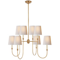 Visual Comfort TOB5008HAB-NP Thomas O'Brien Vendome 8 Light 36 inch Hand-Rubbed Antique Brass Chandelier Ceiling Light