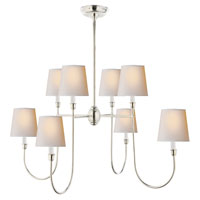 Visual Comfort Thomas OBrien Vendome 8 Light Chandelier in Polished Silver TOB5008PS-NP/ST