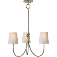 Visual Comfort TOB5009AN-NP Thomas OBrien Reed 3 Light 20 inch Antique Nickel Chandelier Ceiling Light