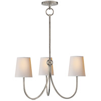 Visual Comfort TOB5009AN-NP Thomas O'Brien Reed 3 Light 20 inch Antique Nickel Chandelier Ceiling Light