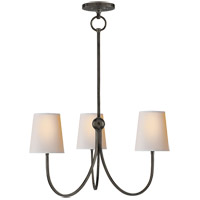 Visual Comfort TOB5009BZ-NP Thomas O'Brien Reed 3 Light 20 inch Bronze Chandelier Ceiling Light