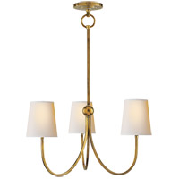 Visual Comfort TOB5009HAB-NP Thomas O'Brien Reed 3 Light 20 inch Hand-Rubbed Antique Brass Chandelier Ceiling Light
