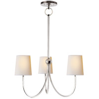 Visual Comfort TOB5009PN-NP Thomas O'Brien Reed 3 Light 20 inch Polished Nickel Chandelier Ceiling Light