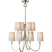 Visual Comfort Thomas OBrien Reed 8 Light Chandelier in Antique Nickel TOB5010AN-NP