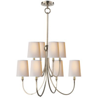 Visual Comfort TOB5010AN-NP Thomas O'Brien Reed 8 Light 27 inch Antique Nickel Chandelier Ceiling Light