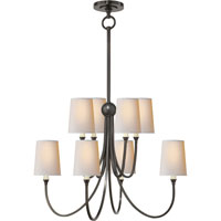Visual Comfort Thomas OBrien Reed 8 Light Chandelier in Bronze with Wax TOB5010BZ-NP