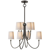 Visual Comfort TOB5010BZ-NP Thomas O'Brien Reed 8 Light 27 inch Bronze Chandelier Ceiling Light