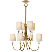 Visual Comfort TOB5010HAB-NP Thomas O'Brien Reed 8 Light 27 inch Hand-Rubbed Antique Brass Chandelier Ceiling Light