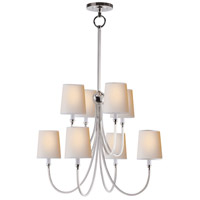 Visual Comfort Thomas OBrien Reed 8 Light Chandelier in Polished Nickel TOB5010PN-NP