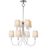 Thomas OBrien Reed 8 Light 26 inch Polished Nickel Chandelier Ceiling Light